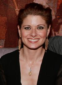 Debra Messing at the launch of Lorraine Schwartz's Diamond Monkey Collection.