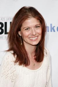 Debra Messing at the opening night of