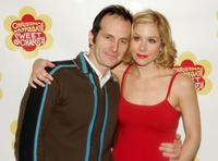 Denis O'Hare and Christina Applegate stands backstage after rehearsing for the broadway musical
