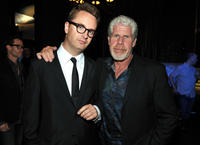 Nicolas Winding Refn and Ron Perlman at the Film District party during the Comic-Con 2011 in California.