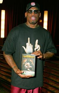 Dennis Rodman at the signing of