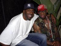John Salley and Dennis Rodman at the 43rd Birthday party in the VIP room at Highlands.