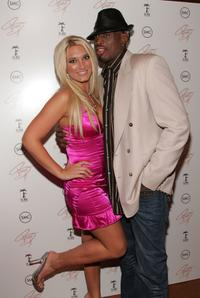 Brooke Hogan and Dennis Rodman at the release party of Brooke's new album