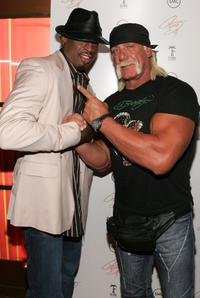 Dennis Rodman and Hulk Hogan at the release party of Brooke's new album