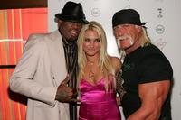 Dennis Rodman, Brooke Hogan and Hulk Hogan at the release party of Brooke's new album