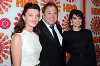 Michelle Fairley, Mark Addy and Lena Headey at the HBO's Annual Emmy Awards Post Award Reception in California.
