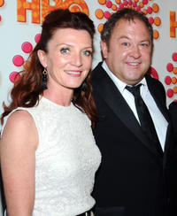 Michelle Fairley and Mark Addy at the HBO's Annual Emmy Awards Post Award Reception in California.