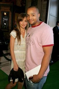 Donald Faison and Minka Kelly at the Los Angeles Premiere of