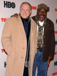 John Doman and Frankie R. Faison at the premiere of