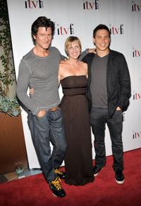 Vincent Ventresca, ITV Festival director Jenny Starnes and Erik Palladino at the 4th Annual Independent Television Festival Opening Night Gala.