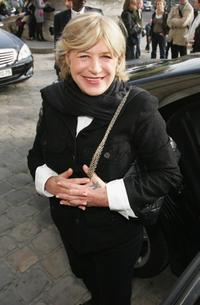 Marianne Faithfull at the Chanel Fashion show during the Paris Fashion Week.