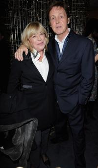 Marianne Faithfull and Paul McCartney at the opening of Stella McCartney Paris store.