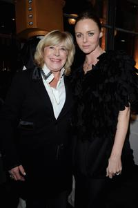 Marianne Faithfull and Stella McCartney at the opening of Stella McCartney Paris store.