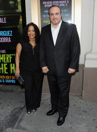 Liza Colon-Zayas and David Zayas at the Broadway opening night of