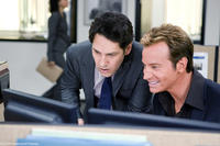 Paul Rudd as Peter and Rob Huebel as Tevin Downey in