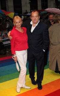 Babs Powell and Mel Smith at the premiere of