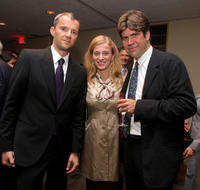 John Battsek, Carolina Larriera and director Greg Barker at the screening of