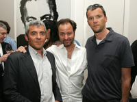 Daniel Battsek, Fisher Stevens and John Battsek at the special screening of