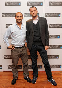 Director Amir Bar Lev and John Battsek at the premiere of