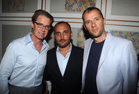 Kyle MacLachlan, director Amir Bar Lev and John Battsek at the after party of the premiere of