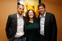 John Battsek, producer Julie Goldman and director/producer Greg Barker at the documentary screening of