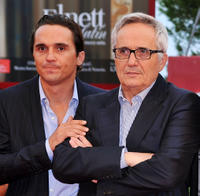 Piergiorgio Bellocchio and director Marco Bellocchio at the premiere of