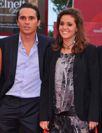 Piergiorgio Bellocchio and Elenea Belocchio at the premiere of
