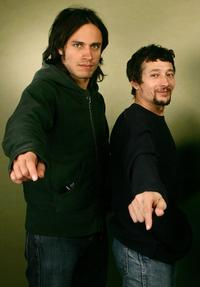Gael Garcia Bernal and Sacha Bourdo at the 2006 Sundance Film Festival.