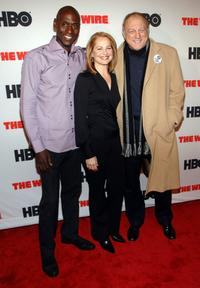 Lance Reddick, Deirdre Lovejoy and John Doman at the premiere of