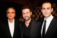Homayoun Ershadi, Khaled Hosseini and Khalid Abdalla at the premiere of