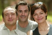 Patrick Timsit, Jose Garcia and Marianne Denicourt at the Marrakech International Film Festival.