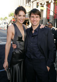 Katie Holmes and Tom Cruise at the premiere of