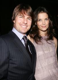 Katie Holmes and Tom Cruise at