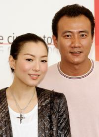 Sammi Cheng and Hu Jun at the photocall of