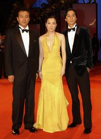 Hu Jun, Sammi Cheng and Daniel Wu at the premiere of