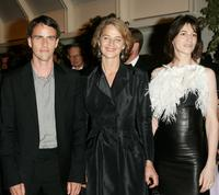 Laurent Lucas, Charlotte Rampling and Charlotte Gainsbourg at the 58th International Cannes Film Festival opening night gala.