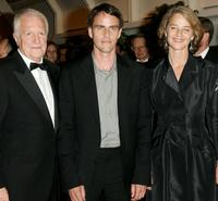Andre Dussollier, Laurent Lucas and Charlotte Rampling at the 58th International Cannes Film Festival opening night gala.