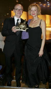 Ulrich Muheand and his wife Susanne Lothar at the Goldene Henne Award.