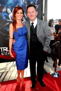 Carrie Preston and Michael Emerson at the premiere of