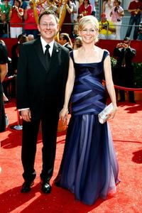 Michael Emerson and Carrie Preston at the 60th Primetime Emmy Awards.