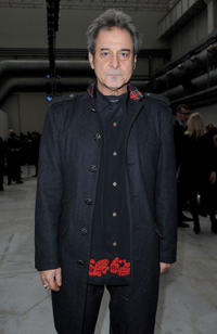 Ennio Fantastichini at the Costume National Homme Milan Fashion Week Menswear Autumn/Winter 2011 show in Italy.