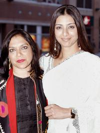 Director Mira Nair and Tabu at the TIFF gala screening of