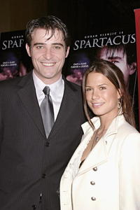 Goran Visnjic and Rhona Mitra at the premiere of
