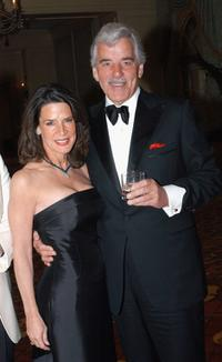 Dennis Farina and Katherine Harris at the ball des sports gala evening.