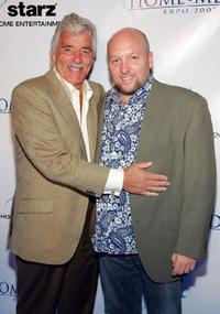 Dennis Farina and Zak Penn at the starz home entertainment's