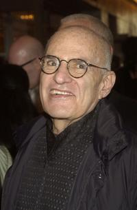 Larry Kramer at the opening night of
