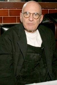Larry Kramer at the after party of the opening night of