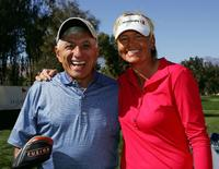 Jamie Farr and Liselotte Neumann at the Kraft Nabisco Championship.
