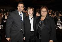 Adam Sandler, Angus T. Jones and Conchata Ferrell at the 35th Annual People's Choice Awards.