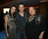 Marin Hinkle, Jon Cryer and Conchata Ferrell at the CBS celebration of